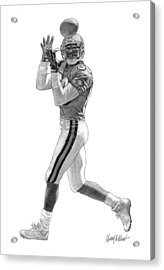 Jerry Rice Acrylic Print by Harry West