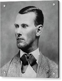 Jesse James -- American Outlaw Acrylic Print by Daniel Hagerman