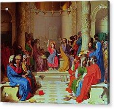 Jesus Among The Doctors Acrylic Print by Ingres