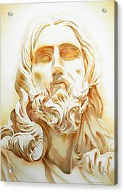 Jesus By Bernini Tribute Acrylic Print by Jose Espinoza