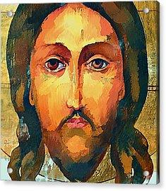 Jesus Christ Icon Acrylic Print by Yury Malkov