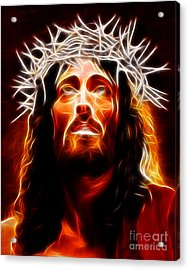 Jesus Christ Our Savior Acrylic Print by Pamela Johnson