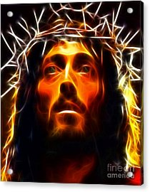 Jesus Christ The Savior Acrylic Print by Pamela Johnson