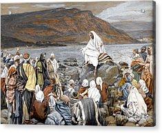 Jesus Preaching Acrylic Print by Tissot