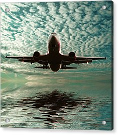 Jet Square Acrylic Print by Sharon Lisa Clarke