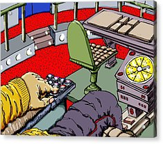 Jetisoning The Pod Acrylic Print by Gregg Dutcher
