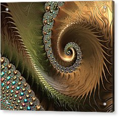 Jewel And Spiral Abstract Acrylic Print by Marianna Mills