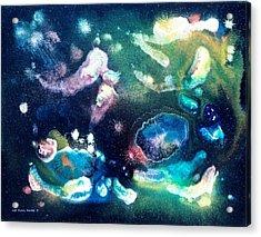 Jeweled Pegasus Acrylic Print by Lee Pantas