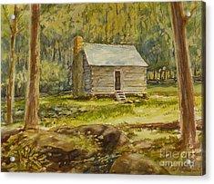 Jim Bales' Cabin Acrylic Print by Carl Whitten