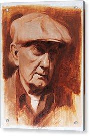 Jim In Monochrome Acrylic Print by Anna Rose Bain