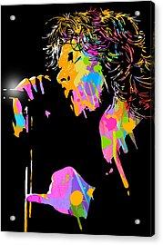 Jim Morrison Acrylic Print by Paul Sachtleben