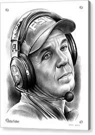 Jimbo Fisher Acrylic Print by Greg Joens