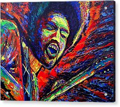 Jimi And The Blue Flames Acrylic Print by Jeremy Smith