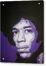 Jimi Acrylic Print by Rock Rivard