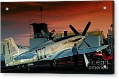 Jimmy Leeward And The Galloping Ghost By Gus Mccrea Acrylic Print by Gus McCrea