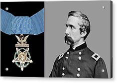 J.l. Chamberlain And The Medal Of Honor Acrylic Print by War Is Hell Store