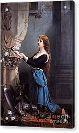 Joan Of Arc  Acrylic Print by Photo Researchers