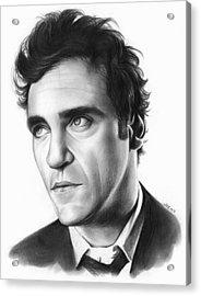 Joaquin Pheonix Acrylic Print by Greg Joens