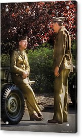 Job - Army - Remembrance  Acrylic Print by Mike Savad