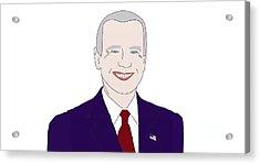 Joe Biden Acrylic Print by Priscilla Wolfe