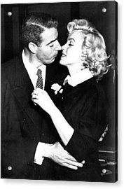 Joe Dimaggio, Marilyn Monroe Acrylic Print by Everett