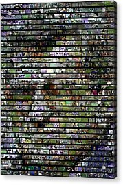 Joe Paterno Mosaic Acrylic Print by Paul Van Scott