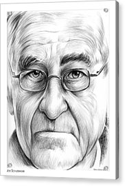 Joe Schlesinger Acrylic Print by Greg Joens