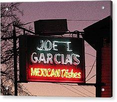 Joe T Garcia's Acrylic Print by Shawn Hughes