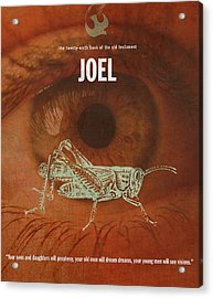 Joel Books Of The Bible Series Old Testament Minimal Poster Art Number 29 Acrylic Print by Design Turnpike