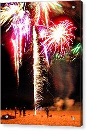 Joe's Fireworks Party 1 Acrylic Print by Charles Harden