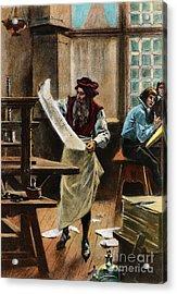 Johann Gutenberg Acrylic Print by Granger