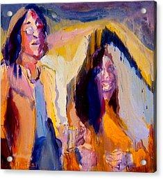 John And Yoko Acrylic Print by Les Leffingwell