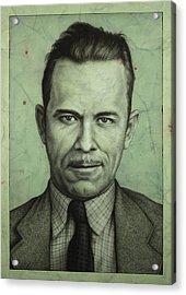 John Dillinger Acrylic Print by James W Johnson