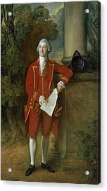 John Eld Of Seighford Hall Stafford Acrylic Print by Thomas Gainsborough