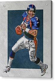 John Elway Denver Broncos Art Acrylic Print by Joe Hamilton