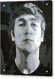 John Lennon - Birth Of The Beatles Acrylic Print by David Lloyd Glover