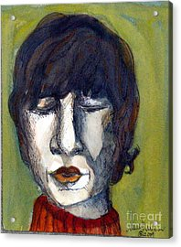 John Lennon As An Elf Acrylic Print by Mindy Newman