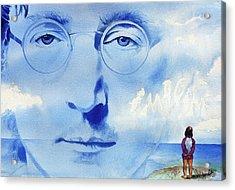 John Lennon Acrylic Print by Ken Meyer jr