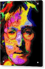 John Lennon Acrylic Print by Stephen Anderson