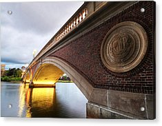 John Weeks Bridge Charles River Harvard Square Cambridge Ma Acrylic Print by Toby McGuire