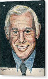 Johnny Carson Acrylic Print by Michael Lewis