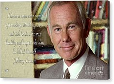Johnny Carson On Pleasures In Life Acrylic Print by Garland Johnson