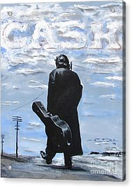 Johnny Cash - Going To Jackson Acrylic Print by Eric Dee