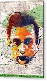 Johnny Cash - Gatlinburg Tennessee Acrylic Print by Ryan  Hopkins