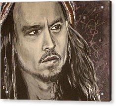 Johnny Depp Acrylic Print by Eric Dee
