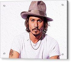 Johnny Depp Acrylic Print by Iguanna Espinosa