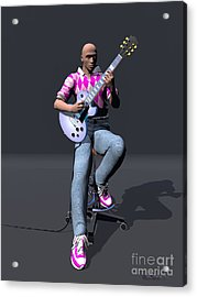 Johnny Guitar 2 Acrylic Print by Walter Oliver Neal