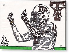 Johnny Manziel 10 Change The Play Acrylic Print by Jeremiah Colley