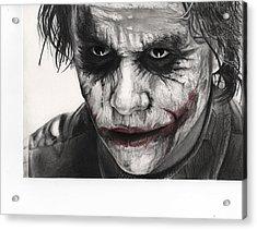 Joker Face Acrylic Print by James Holko