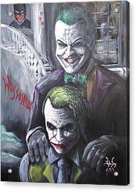 Jokery In Wayne Manor Acrylic Print by Tyler Haddox